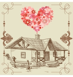 house of love vector image