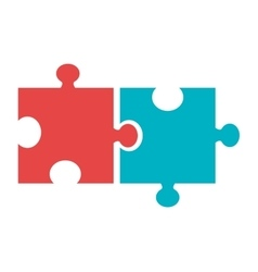 colorful puzzle pieces graphic vector image