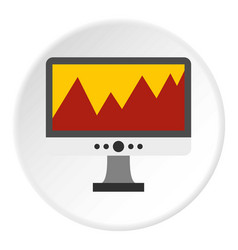 computer icon circle vector image