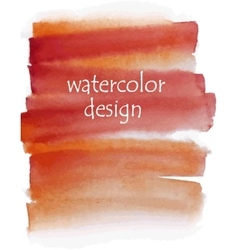 orange watercolor background for your design vector image vector image