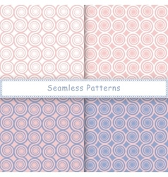 Set of seamless pattern with spiral shapes vector image vector image