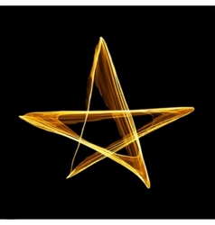 Abstract christmas gold star vector image vector image