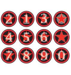Alphabet numbers retro style american vintage vector