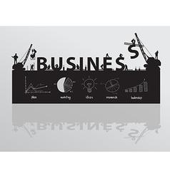 Construction site crane building business text vector image
