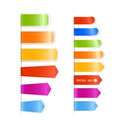 Different color stickers vector image vector image
