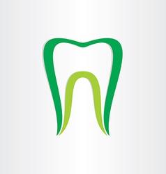 healthy teeth concept dentist tooth symbol vector image