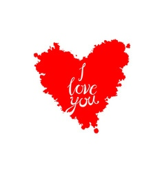 A heart made of I love you phrase in many vector