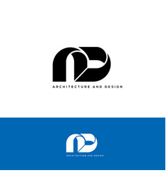 architecture and design logo vector image