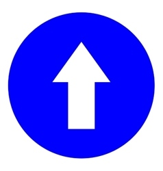 Arrow white in blue circle sign vector