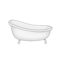 Bath icon black monochrome style vector