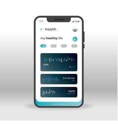 blue health ui ux gui screen for mobile apps vector image