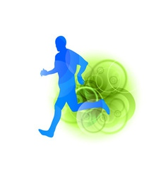 blue runner vector image