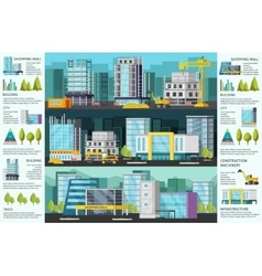 Building Orthogonal Infographics vector