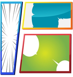 Cartoon Comic Frame Template Color vector