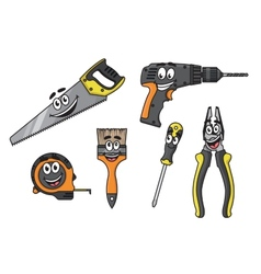 Cartoon diy tools characters vector