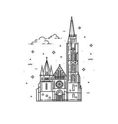 churches of hungary matthias church vector image