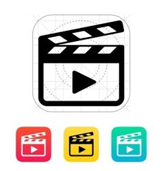 Clapper board icon vector image