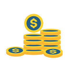 coins stacked money vector image