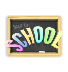 Colorful back to school title banner vector