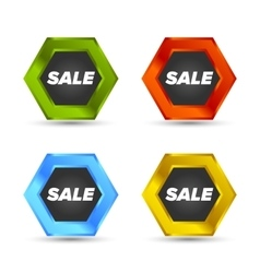 Colorful Sale tags vector image