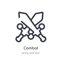 Combat outline icon isolated line from army and vector