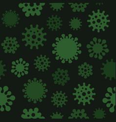coronavirus seamless pattern on dark background vector image