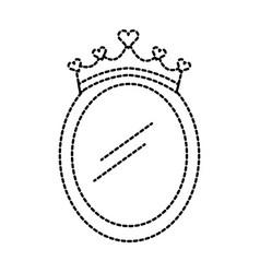 crown mirror princess decoration accessory vector image