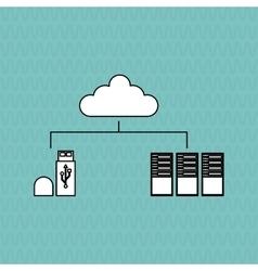 Data center and usb design vector