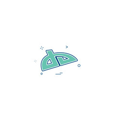 Deviantart icon design vector