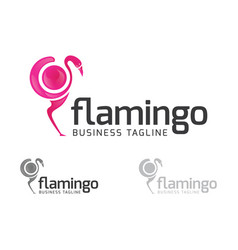 Digital flamingo logo vector