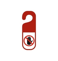 Do not disturb door hangers flat icon vector