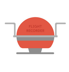 Flight recorder geometric isolated on vector
