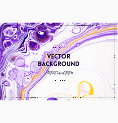 Fluid art texture backdrop with abstract swirling vector