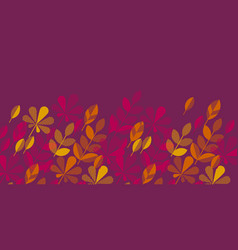 Geometric style elegant red and autumn foliage vector