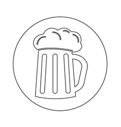 Glass beer icon design vector