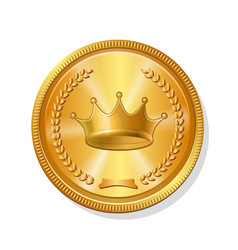 gold coin icon vector image