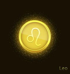 golden leo sign vector image
