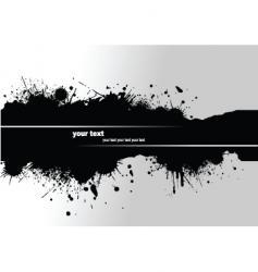 grunge blot banner vector image