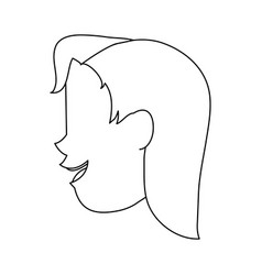 Happy woman sideview icon image vector