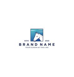 Horse logo design vector