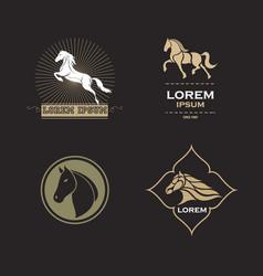 Horse logo set vector