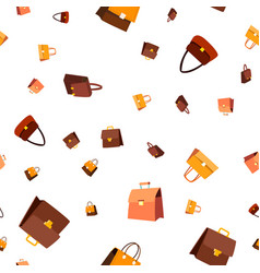 leather bag seamless pattern fashion vector image
