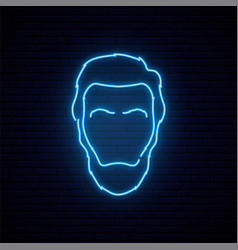 Lincoln neon sign bright light silhouette vector