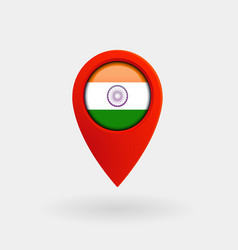 location icon for india flag vector image