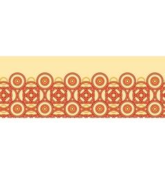 Magical celtic circles horizontal seamless pattern vector