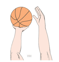 male hands holding and preparing to throw vector image