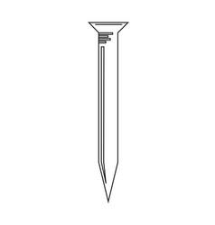 metal nail icon vector image