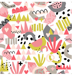 modern abstract paper cut out shapes background vector image