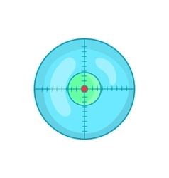 Optical sight icon in cartoon style vector image