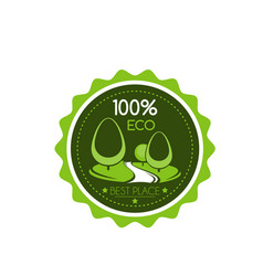 Outdoor green landscaping eco project icon vector